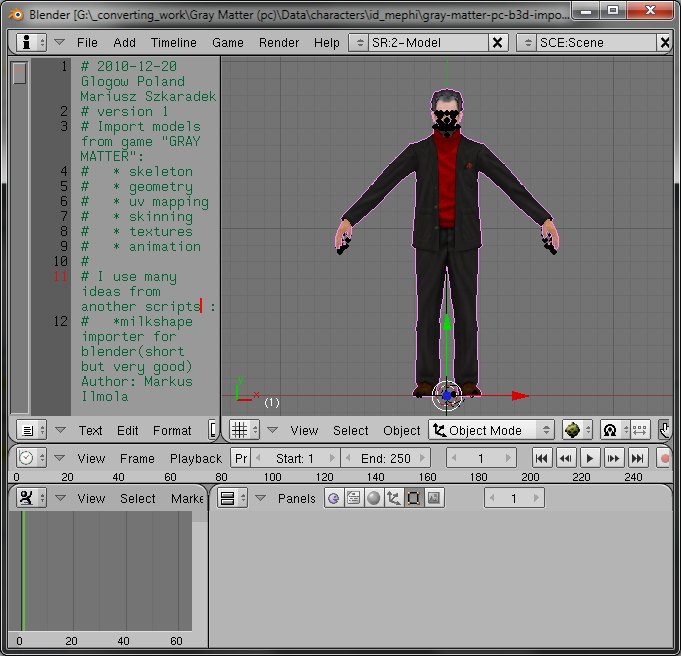 Converting 3d model from Gray Matter « CG in Games